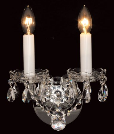 Impex Stella Czech Crystal Twin Wall Light Polished Chrome