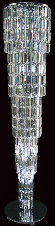 Padua Large Chrome 15 Light Lead Crystal Column Floor Lamp