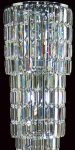 Padua Large Chrome 15 Light Lead Crystal Column Floor Lamp