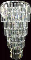 Padua Large Chrome 5 Lamp Tiered Crystal Wall Light