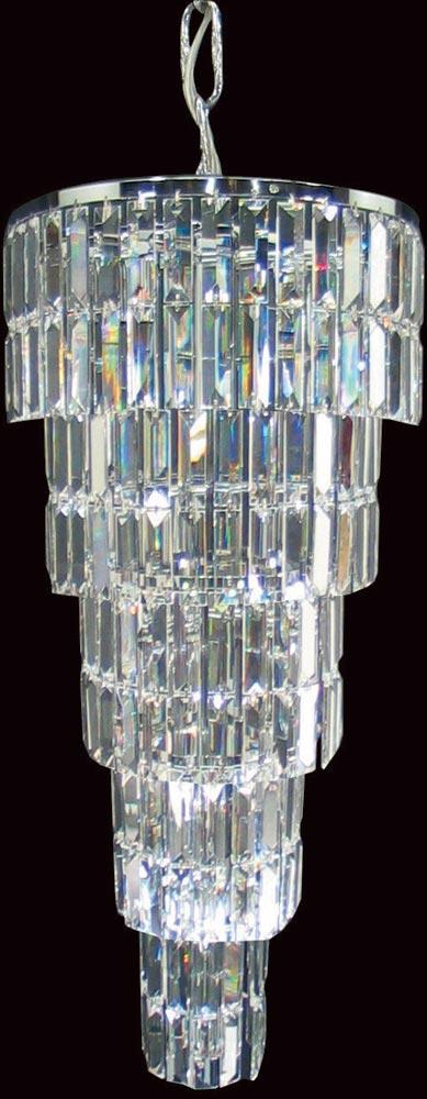 Padua Medium Chrome 7 Light Crystal Stairwell Pendant