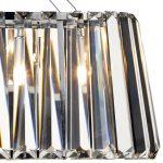 Dar Cecilia Modern Crystal 3 Light Trough Pendant Chrome