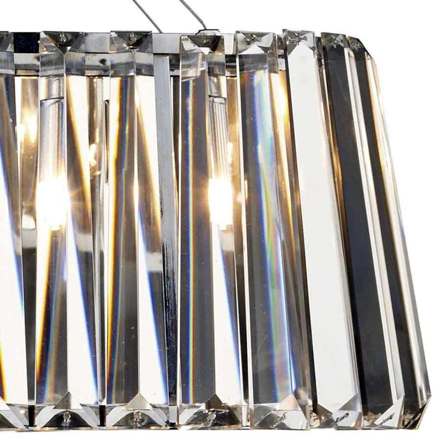 dar cecilia modern crystal 3 light trough pendant chrome cec0350