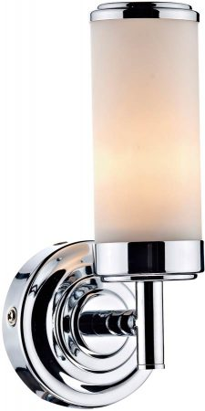 Dar Century Switched Single Bathroom Wall Light Chrome