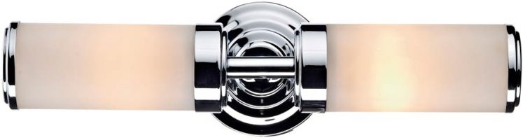 Dar Century Switched 2 Lamp Bathroom Wall Light Chrome