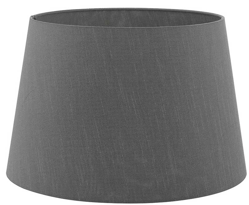 Cezanne 45cm Grey French Drum Ceiling, Large Drum Lamp Shade Grey