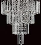 Barcelona Contemporary Chrome 7 Light Crystal Chandelier