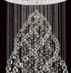Madrid Contemporary Chrome 9 Light Crystal Chandelier