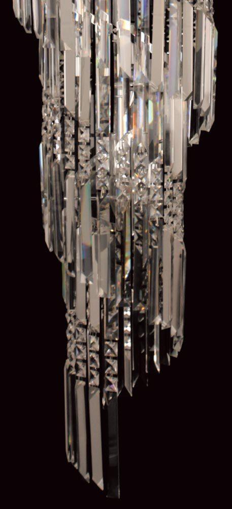 Toronto chrome 14 light clear crystal spiral chandelier universal toronto chrome 14 light clear crystal spiral chandelier aloadofball Images