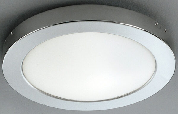 Franklite Chrome 300mm Flush Bathroom Ceiling Light