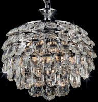 Adaliz Small 3 Light K9 Crystal Pendant In Polished Chrome