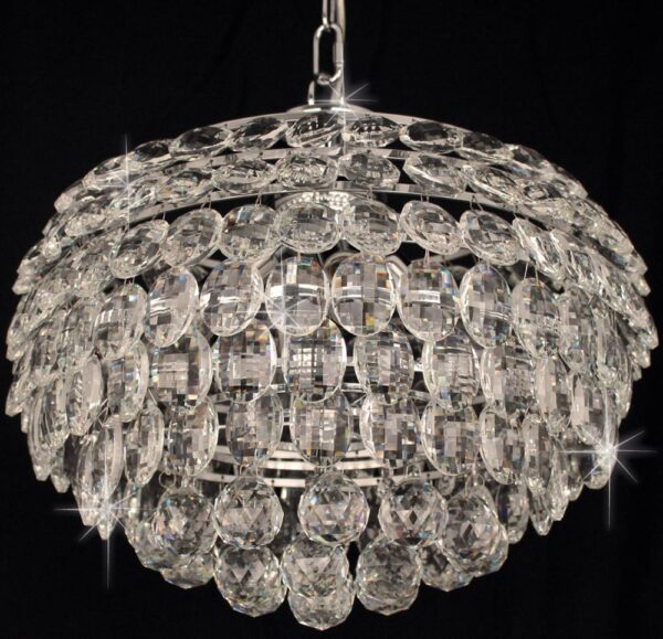 Adaliz Medium 4 Light K9 Crystal Pendant In Polished Chrome