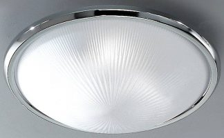Classic Chrome 400mm 3 Lamp Flush Ceiling Light