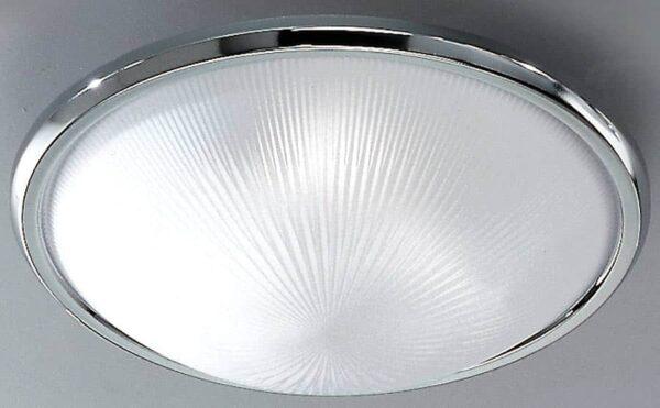 Classic Chrome 400mm 3 Lamp Flush Ceiling Light