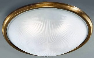 Classic Bronze Finish 400mm 3 Lamp Flush Ceiling Light