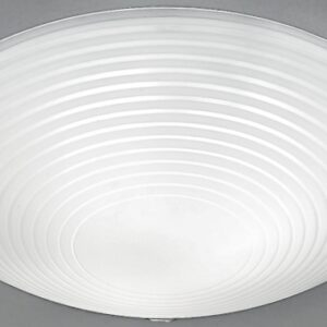 Traditional 3 Lamp Flush Low Ceiling Light Frosted / Clear Glass Shade