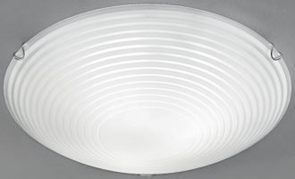 Traditional Frosted Glass Flush 3 Lamp Ceiling Light 400mm