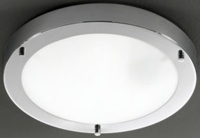 Franklite Chrome 310mm Flush Bathroom Ceiling Light