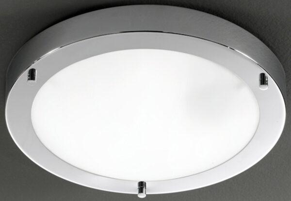 Franklite Chrome 310mm Flush Bathroom Ceiling Light