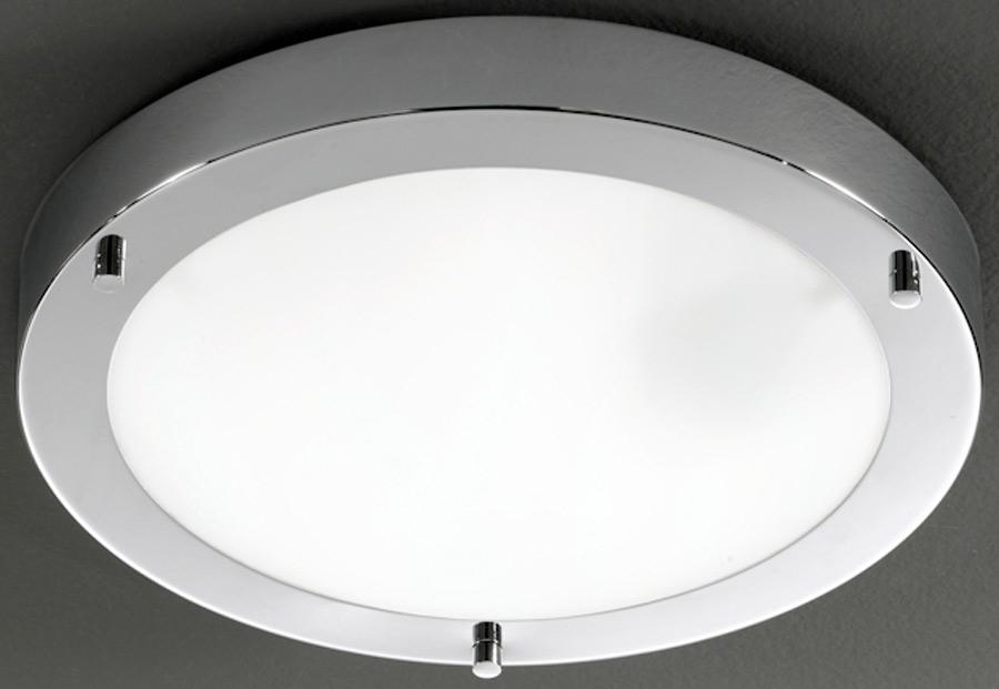 Franklite Chrome 310mm Flush Bathroom Ceiling Light Cf5681