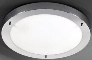 Franklite Chrome 410mm Flush Bathroom Ceiling Light