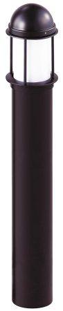 Opal 100cm Matt Black Outdoor Bollard Light IP44
