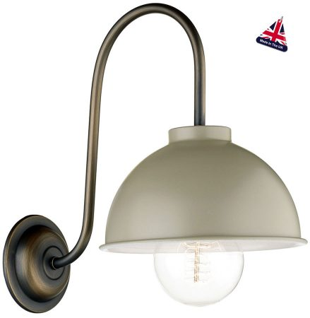 David Hunt Cotswold Traditional Solid Brass Wall Light Cream