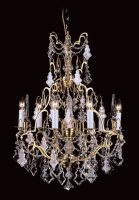 French Gold Feature 6 Light Crystal Chandelier