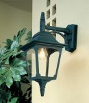 Elstead Chapel 1 Light Downward Outdoor Wall Lantern Black Clear Glass