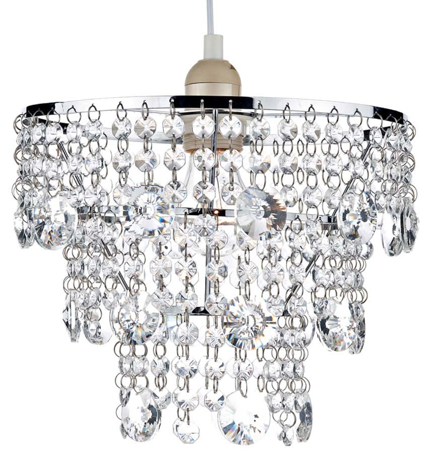 Dar cybil modern crystal ceiling lamp shade chrome cyb6550 dar cybil modern crystal ceiling lamp shade chrome aloadofball Image collections