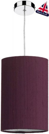 David Hunt Cylinder Silk 20cm White Lined Shade Various Colours