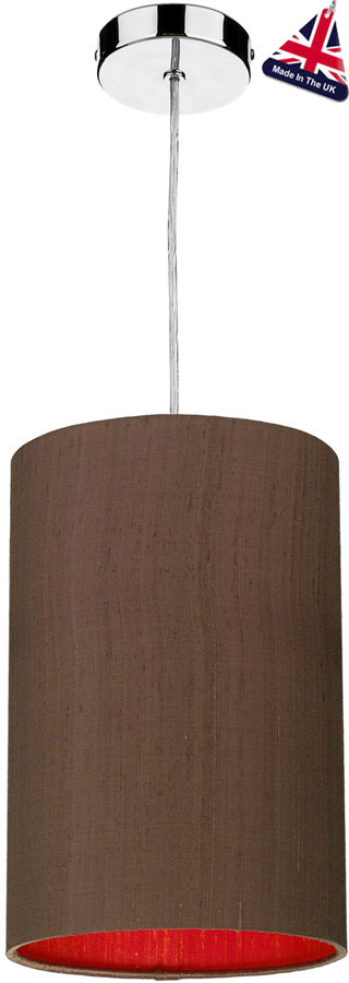 David Hunt Cylinder Silk 20cm Two Tone Shade Various Colours
