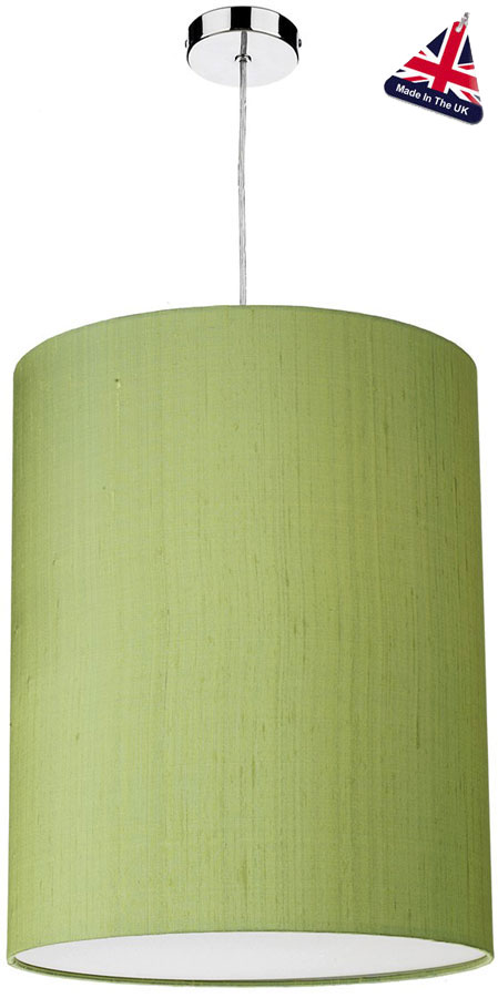 David Hunt Cylinder Silk 40cm White Lined Shade Various Colours