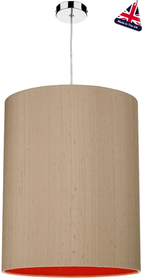 David Hunt Cylinder Silk 40cm Two Tone Shade Various Colours