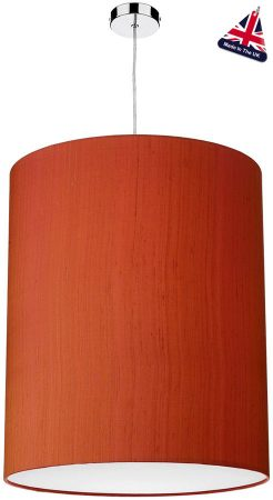 David Hunt Cylinder Silk 50cm White Lined Shade Various Colours