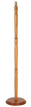 Wooden Floor Standard Lamp Base Cherry Pine