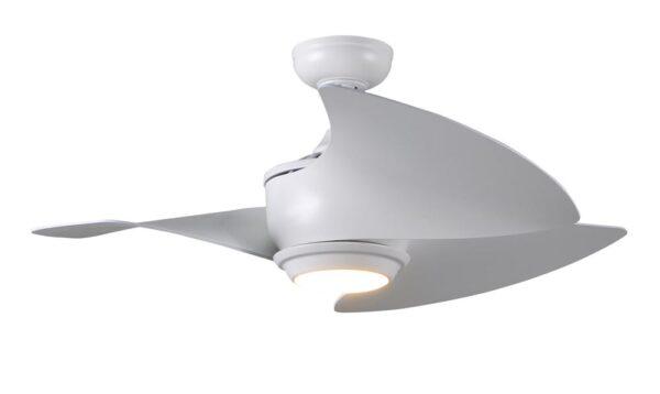 "Fantasia Cirrus Remote Control 40"" Ceiling Fan LED Light White"