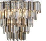 Clarissa 9 Light Crystal Prism Ceiling Pendant Polished Chrome