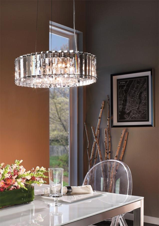 Kichler crystal skye large 8 light chandelier polished chrome ip44 aloadofball Choice Image