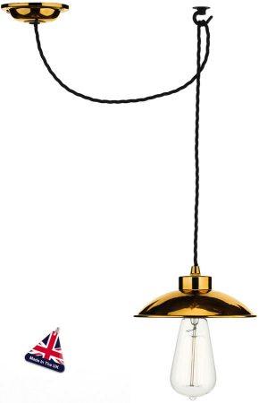 David Hunt Dallas Retro Industrial Copper Pendant Light