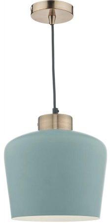 Dar Sullivan Powder Blue 1 Light Pendant With Antique Copper