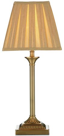 Dar Taylor Antique Brass Table Lamp With Gold Shade
