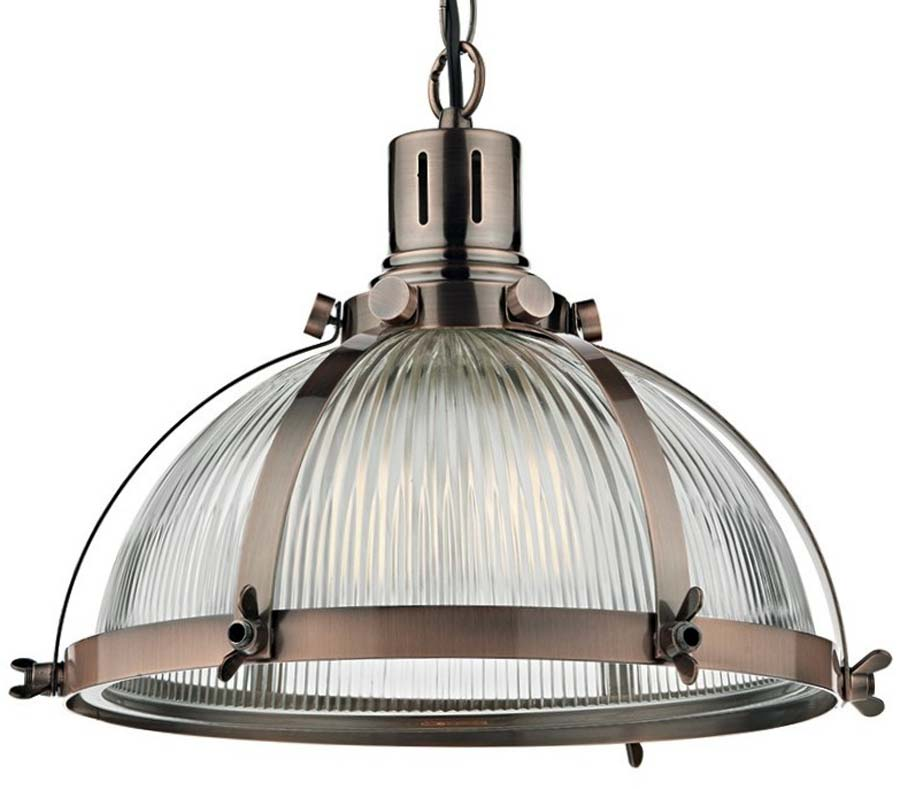 Dar debut copper industrial style ribbed glass pendant light deb0164 dar debut copper industrial style ribbed glass pendant light aloadofball Gallery
