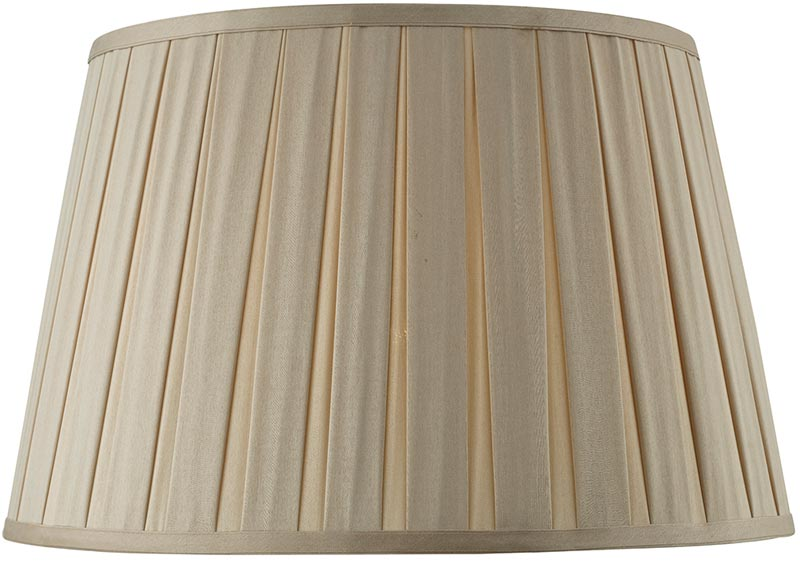 Degas Taupe 45cm Pleated Empire Large, Pleated Lamp Shades For Table Lamps Uk
