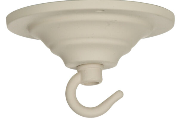 Cream Chandelier Single Hook Ceiling Plate