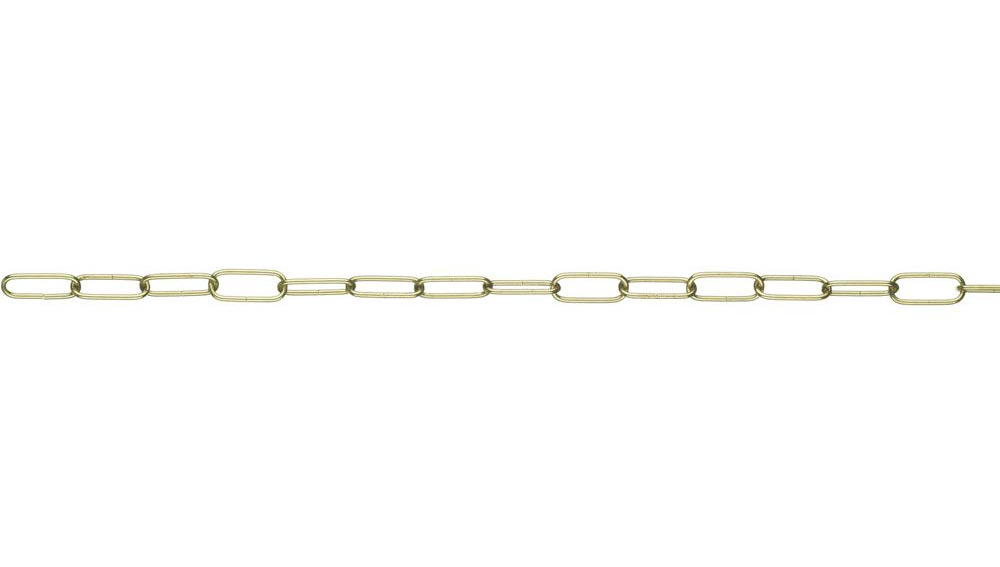 Polished Brass Chandelier Light Fitting Chain 500mm