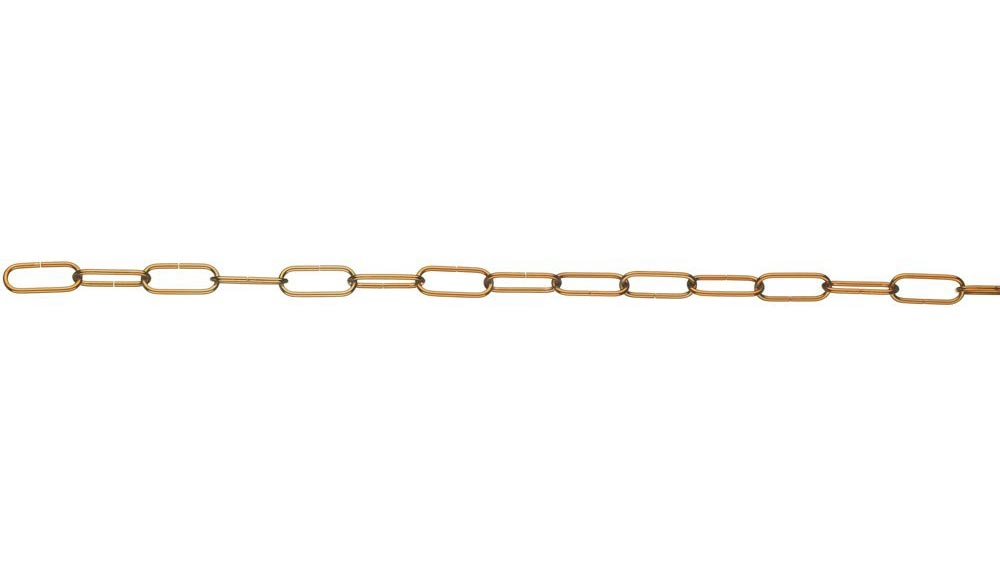 Copper Finish Chandelier Light Fitting Chain 500mm