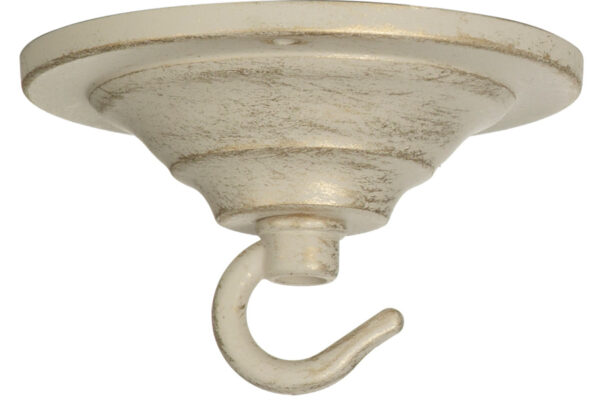 Ivory And Gold Chandelier Single Hook Ceiling Plate