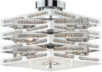Dar Cube Modern Chrome 5 Light Dual Mount Pendant Crystal