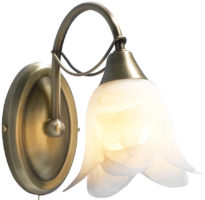 Dar Doublet Switched Single Wall Light Antique Brass